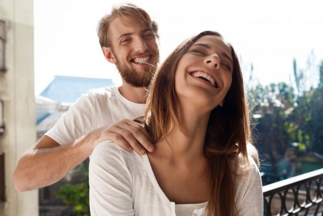 Woman Showing Sagittarius Man She Is Free